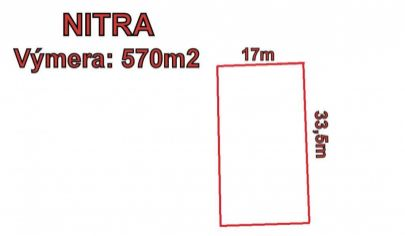 Stavebný pozemok 570 m2,Nitra- Zobor, okr.Nitra, cena dohodou