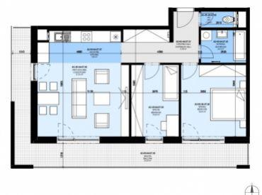 DELTA | 3 izb. byt v štandarde, Slnečnice Zóna Mesto