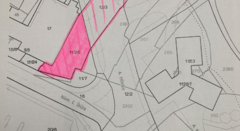 EXKLUZÍVNE iba u nás predaj pozemku v Centre mesta Bánovce nad Bebravou 863m2
