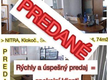 Predaj 3.izb zaujímavo zrekonštruovaného bytu v Nitre na Klokočine