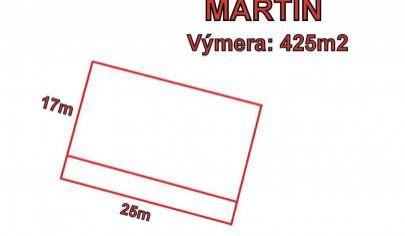 MARTIN pozemok 425m2 so stavebným povolením, ODTOKY