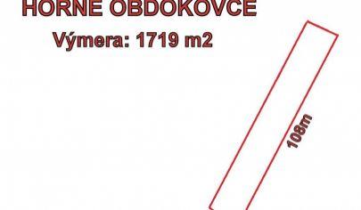 HORNÉ OBDOKOVCE - stavebný pozemok 1719 m2, okr. Topoľčany
