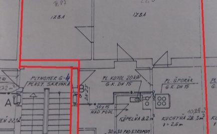 Investícia !!  Veľký tehlový 2 izbový byt,  73 m2,  Fončorda, B. Bystrica širšie centrum – 92 000€