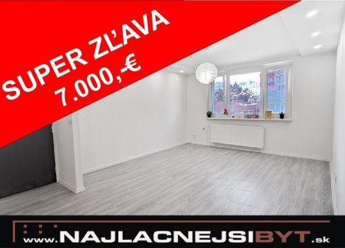 NOVÁ CENA Najlacnejsibyt.sk: BAV - Petržalka, Ambroseho ul., 4-izbový, 86,70 m2, kompletná rekonštrukcia November 2019