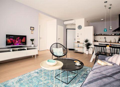 REZERVOVANÝ - Na predaj krásny 2 izbový byt  v novostavbe PANORAMA CITY s výhľadom na Dunaj