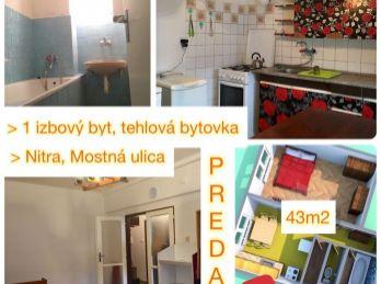 Predaj 1.izb bytu v Nitre v centre v tehlovej bytovke