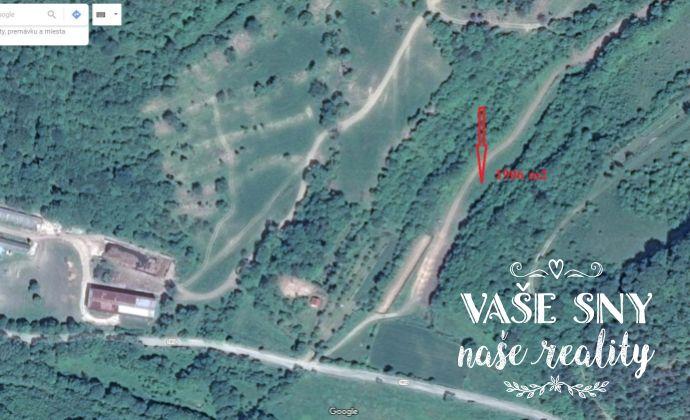 Pozemok na výstavbu chaty - Košecké Podhradie