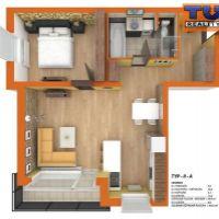 2 izbový byt, Dolný Štál, 63 m², Novostavba