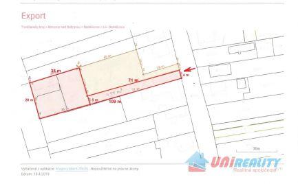 BÁNOVCE  nad  BEBRAVOU – obec NEDAŠOVCE / krásny slnečný POZEMOK o výmere 2.678 m2 na stavbu domu príp domov