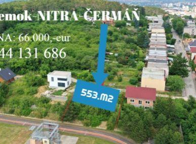 Nitra-Čermáň- Exkluzívne Maxfinreal-pozemok na výstavbu domu-krásne miesto.