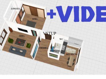 Predané.Byt 2+1 53 m2 s priestrannou loggiou, nízke mesačné náklady - Zvolen