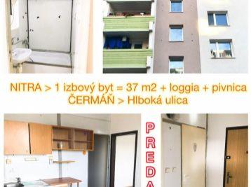 Predaj 1.izb byt v Nitre na Čermáni s balkónom za dobrú cenu