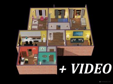 VIP Video 3D. Dom 10+2 s pozemkom 700m2, na investíciu, Zvolen - Sliač