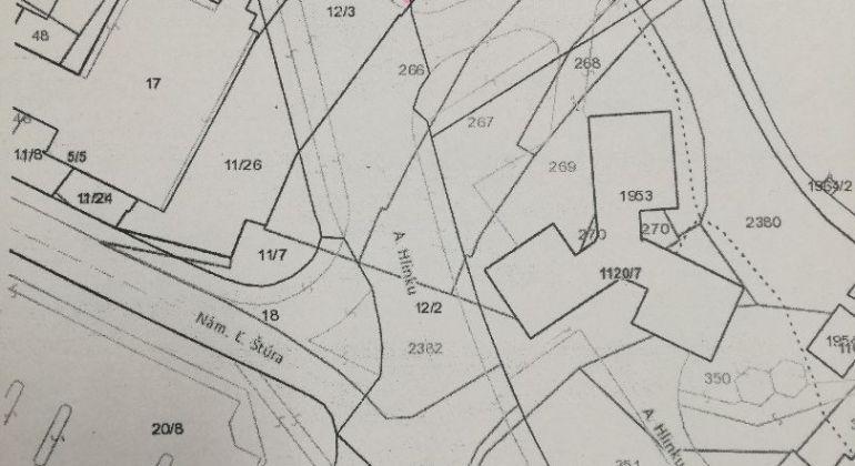 EXKLUZÍVNE iba u nás predaj pozemku v Centre mesta Bánovce nad Bebravou 363m2