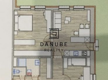 Predaj 3 izbového apartmánu na Tomášikovej ulici, Bratislava.