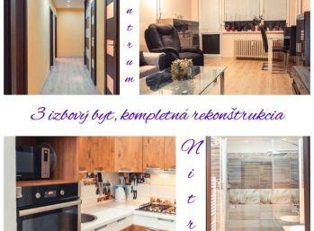 Predaj zrekonštruovaného 3.izb bytu v Nitre na Chrenovej