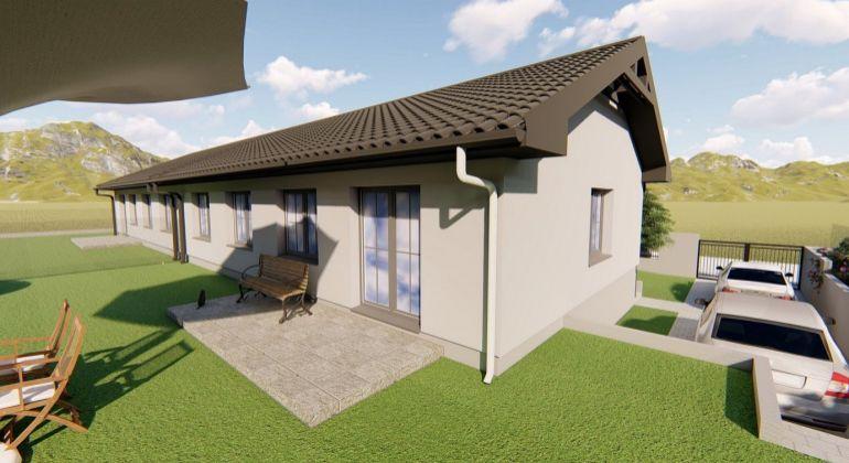 SUPER CENA!- RD01-Nízkoenergetický  4 izb. bungalov –Trenčianske Jastrabie