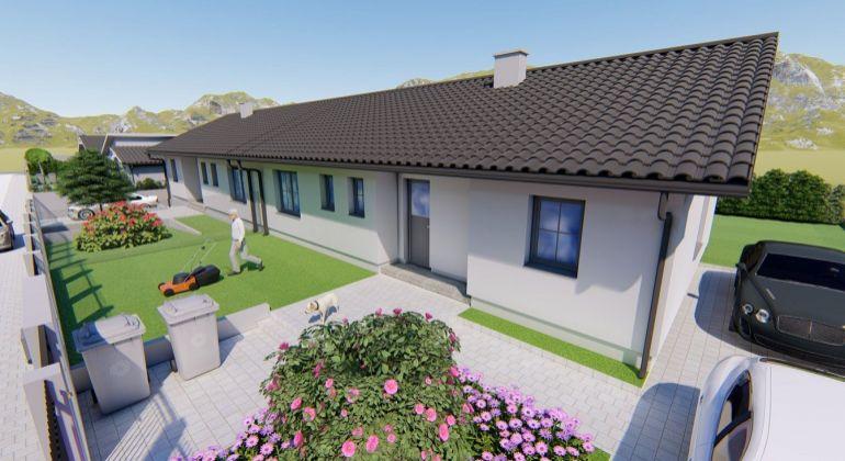 SUPER CENA!- RD04-Nízkoenergetický  4 izb. bungalov –Trenčianske Jastrabie