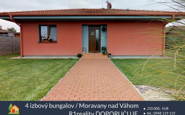4 izbový bungalov /pozemok 711 m2/ Moravany nad Váhom