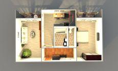 2 izbový byt v Poprade s 2 balkonmi