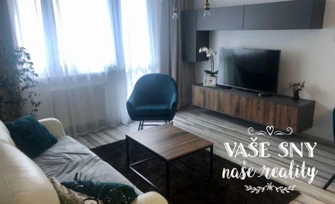 Na predaj zariadený 3 izbový byt v novostavbe na Zlatovskej ulici v Trenčíne s vlastným parkovacím miestom