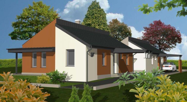 Novostavba 4-izbový bungalov s povalou za cenu bytu v Rajke