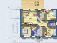 REALFINANC - 100 % aktuálny, 4 izbový Rodinný Dom, BUNGALOV, Novostavba, plocha 118 m2, pozemok 590 m2, Hrubý Šúr !!!