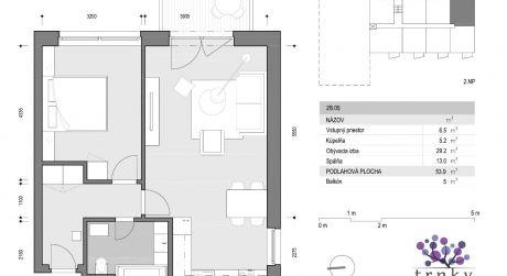 2 izbový byt na predaj na Trnvskej ceste v NOVOSTAVBE