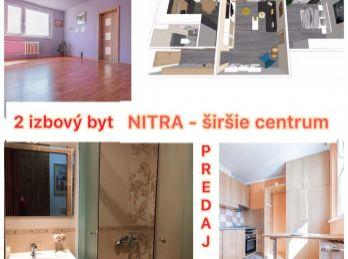 Predaj slnečného 2.izb bytu v Nitre na Párovciach s pekným výhľadom