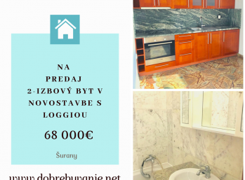 Na Predaj 2 izbový byt Novostavba Šurany