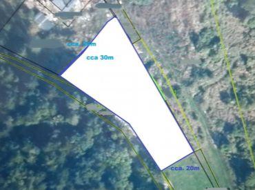 Pozemok so stavebným povolením na výstavbu rodinného domu 1100 m2 - Badín