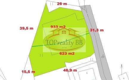 Stavebné pozemky o rozlohe 993  m2 a 623  m2,  Malachov – cena  64 € / m2