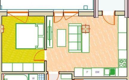 Na predaj 2-izbový byt v NOVOSTAVBE ! UŽ SKOLAUDOVANÉ !!!