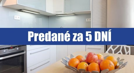 PREDANÉ ZA 5 DNÍ: 1 izbový byt v Petržalke na Vígľašskej je zrekonštruovaný, zariadený a čaká na vás...