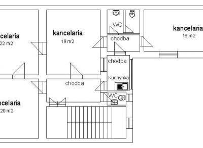Kancelária na prenájom 100 m2, centrum Žiliny