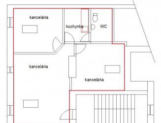 Kancelárie na prenájom 65 m2, centrum Žiliny