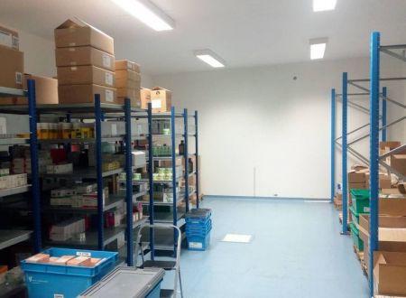 Skladové priestory s povolením pre farmáciu, 71m2 - 556m2, Ružinov, Teslova ul.