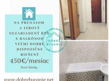 Na prenájom 2 izbový nezeriadený byt s balkónom