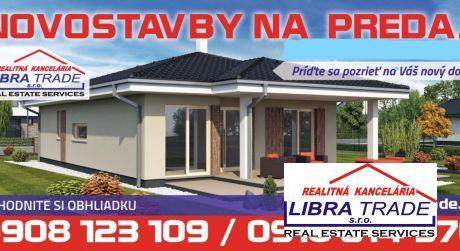 Novostavba- ŠURANY možnosť výberu menšieho projektu  2-3 izb bungalov Pozemok:380m2.