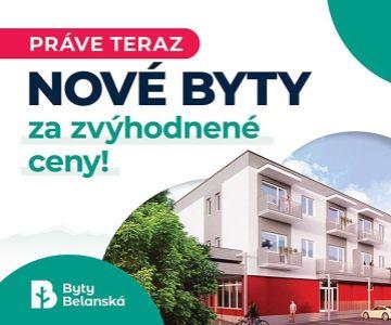 Nové 2. izbové byty na predaj v Liptovskom Hrádku