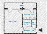 1 izb. byt v tichom prostredí Rače, NOVOHORSKÁ ul., loggia