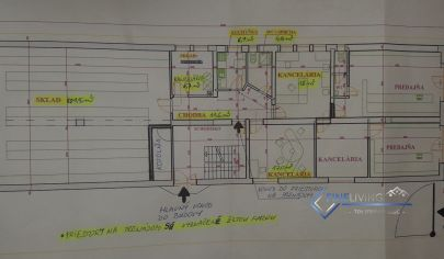 Kancelárske (obchodné) priestory so skladom o výmere 101 m2