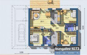 Na predaj novostavba rodinného domu (Bungalov) v obci Ivanovce 12 km od Trenčína.