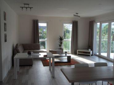 Veľký 3i byt Novostavbe Čachtická ulica-Rača-Centrum,Terasa,záhrada,parkovanie