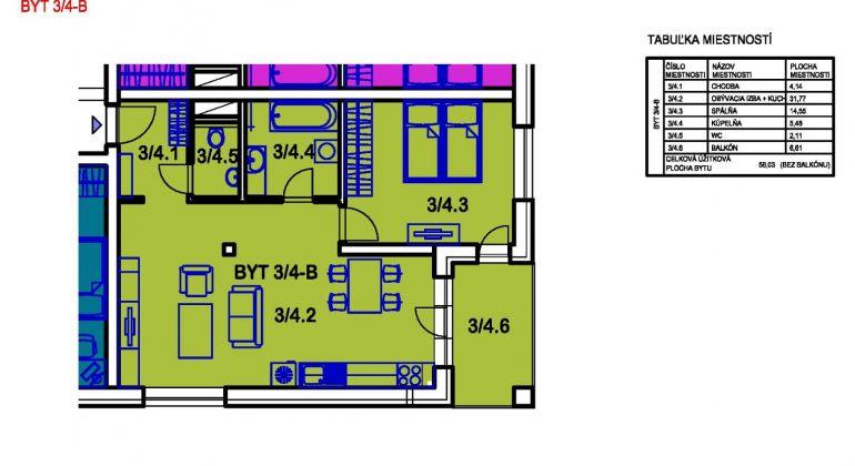 Na predaj 2i byt v Bánovciach n/B- sídlisko Sever s balkónom
