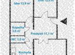 3 izb. byt, BUDATÍNSKA ul., 70 m2, loggia, 8.posch./8, KLIMATIZÁCIA