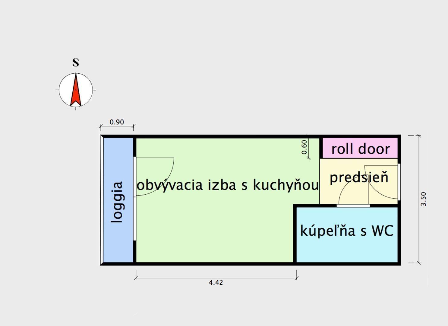 ponukabyvania.sk_Zuzany Chalupovej_1-izbový-byt_MICHÁLKOVÁ