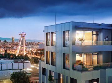 NOVINKA - Predáme pekný 4 izbový byt v rezidenčnej novostavbe EINPARK s výhľadom na Bratislavský hrad.
