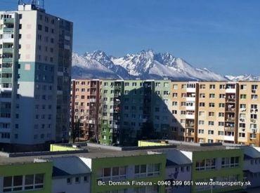 REZERVOVANÉ - Slnečný 3-izbový byt s nádherným výhľadom na Tatry na predaj Poprad - Starý Juh