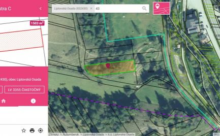 Pozemok Liptovská Osada určený územným plánom pre rekreačnú stavbu